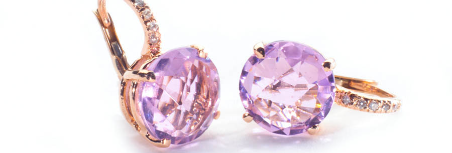 Round Gemstone Earrings