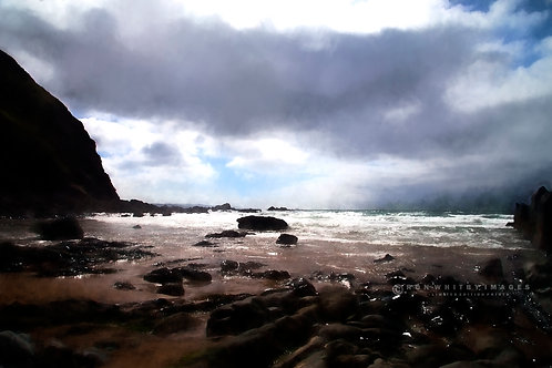 Stormy Day at Duckpool - Cornwall