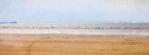 Couple on Cefn Sidan Beach