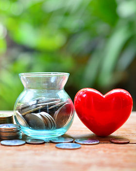 money saving set with red heart for conc