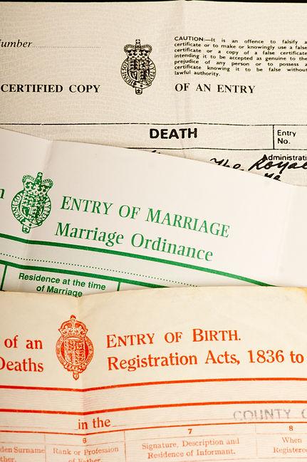 Major steps in life, British birth, marr