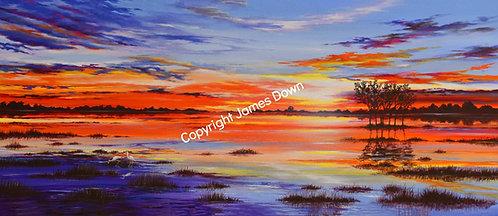 Sunset over Roebuck Plains
