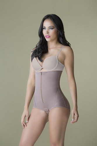 3074 - High waist body and panty in powernet