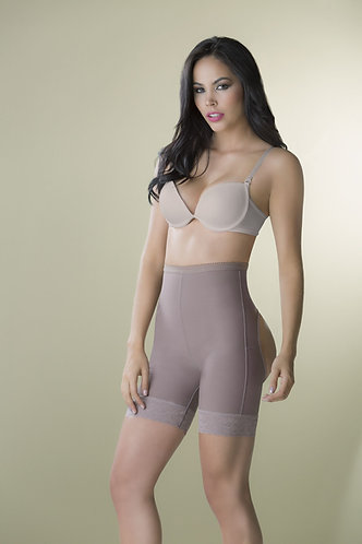 3092 - Uncovered push up short girdle in powernet (high waist)
