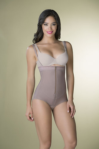 3096 - Body girdle strapless in powernet with zipper