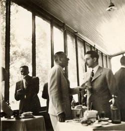 Interior del club de pescadores - 1940