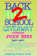 Back 2 School Giveaway