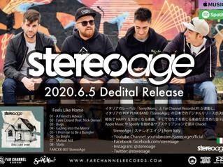 イタリアの音楽レーベル『Sorry Mom!』とFar Channel Recordsが連動しイタリアのPOP PUNK BAND「StereoAge」のデジタル配信が決定!
