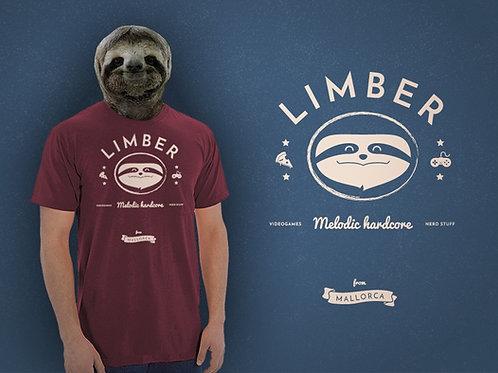 Limber Nerd Sloth T-Shirt (wine red)