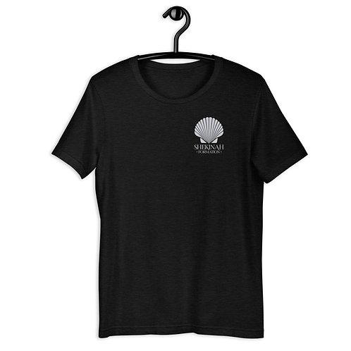 Grey Shell Logo Short-Sleeve Unisex T-Shirt