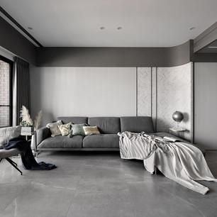 屋主喜好的現代質感,揉入淡綠色,讓空間不會過於冰冷