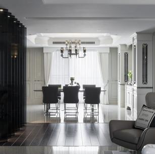 簡單的巧思卻能讓天花板與牆壁產生連結