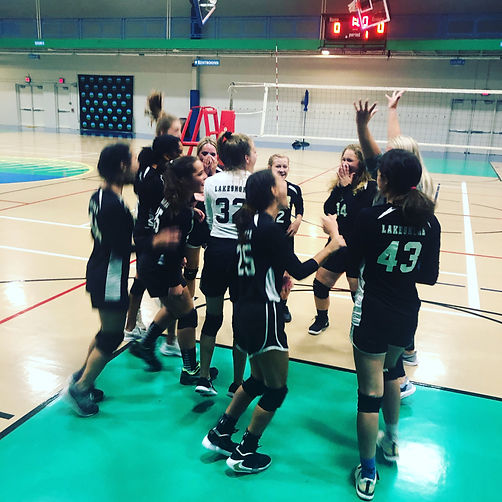 JV Volleyball Team - win!