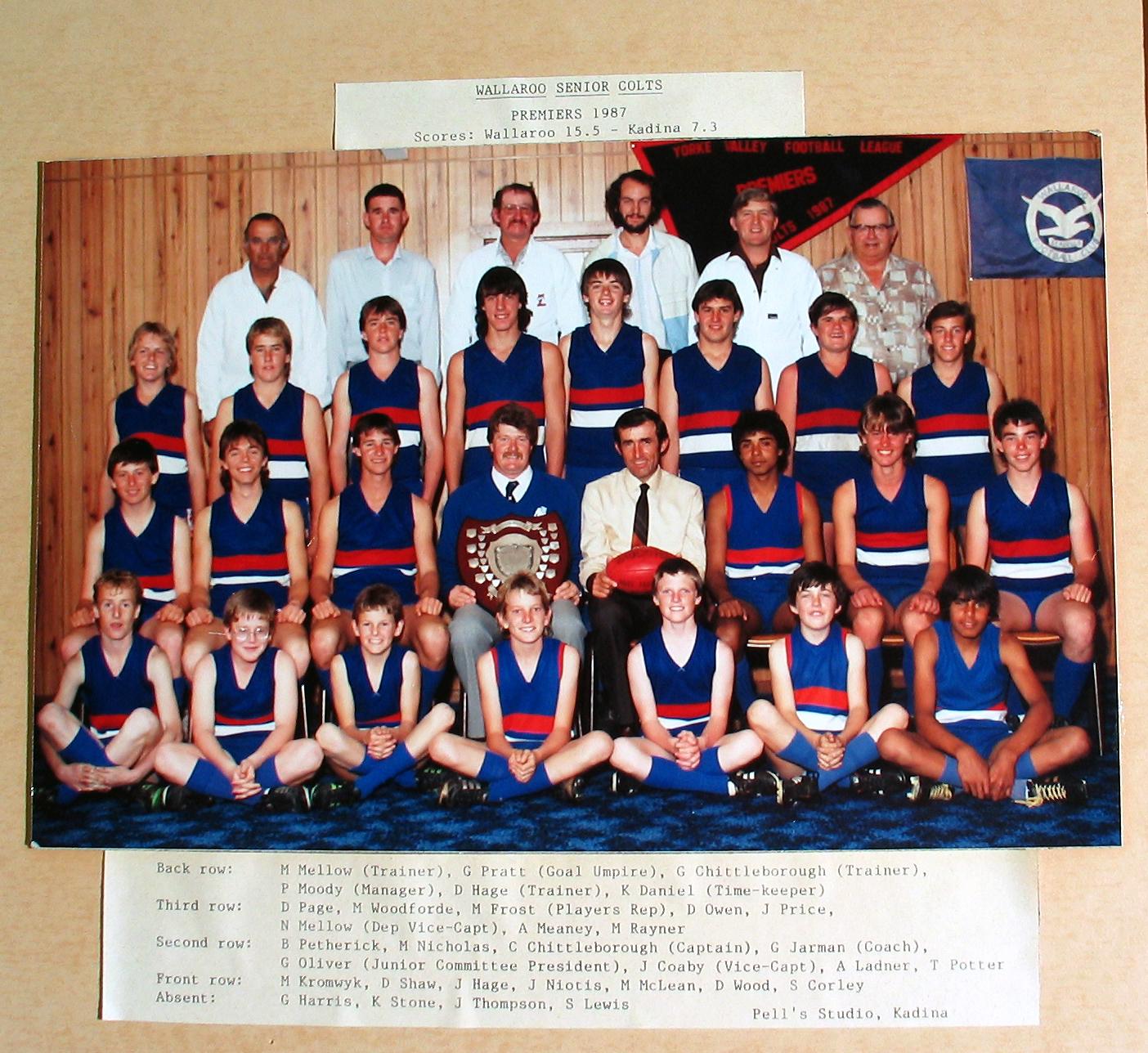 Senior Colts Premiers 1987