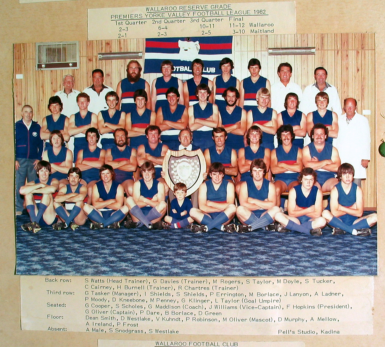 Reserve Grade Premiers 1982