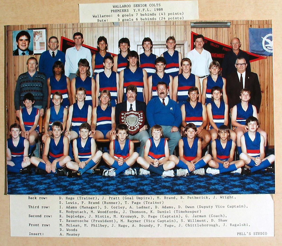 Senior Colts Premiers 1988
