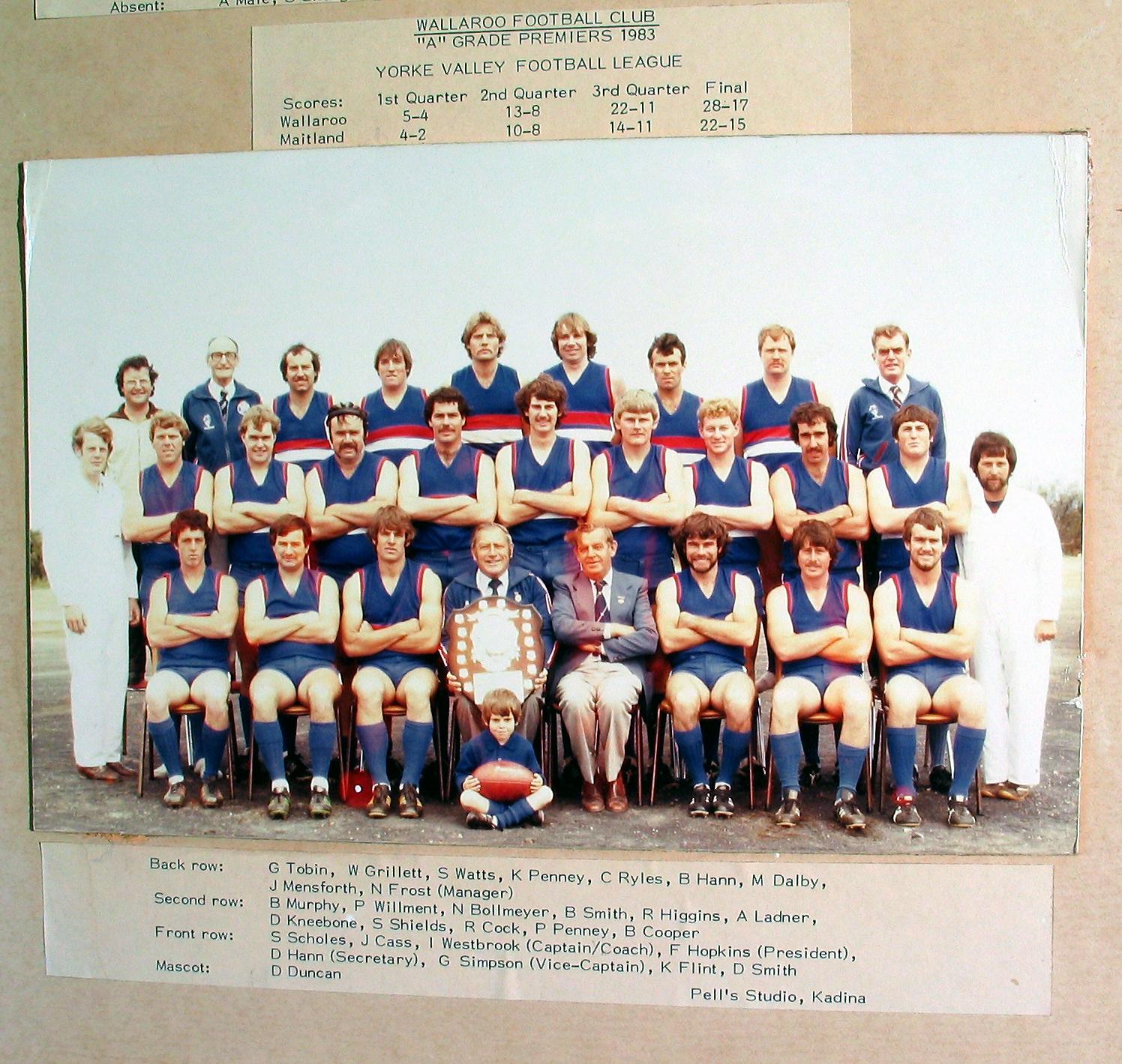 A Grade Premiers 1983