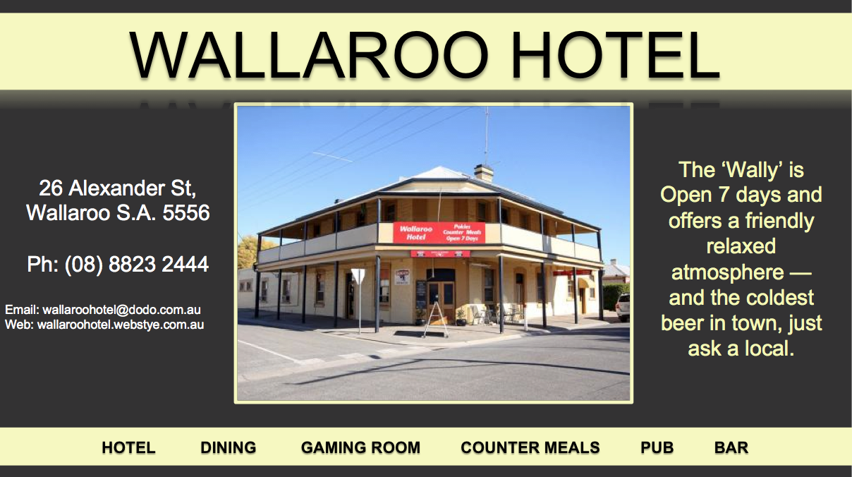 Wallaroo Football Club Gold Sponsor