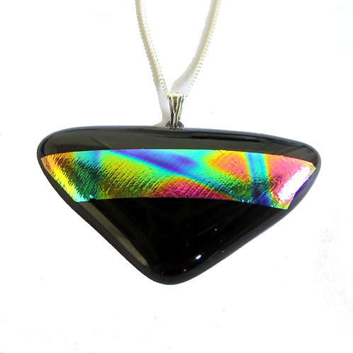 Colourful dichroic glass necklace