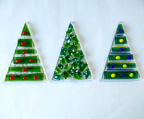 Make at home fused glass Christmas decoration kit