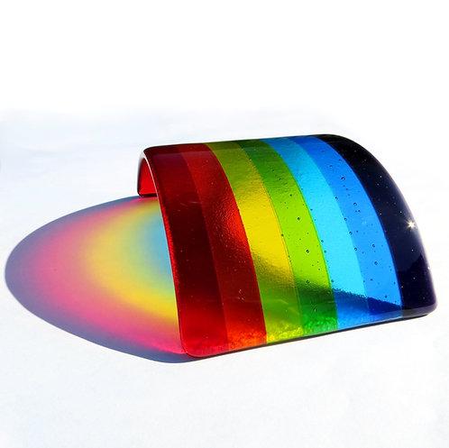 Rainbow fused glass bridge
