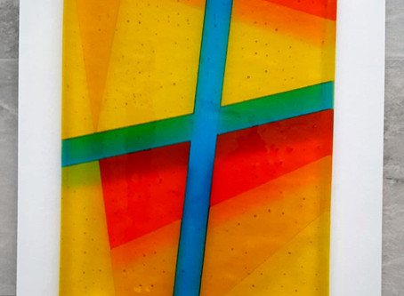 Commissioning fused glass wall art