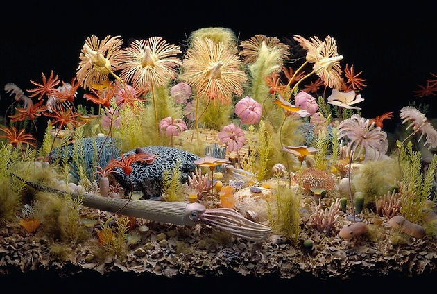 Silurian Reef diorama from Field Museum - Thornton Quarry
