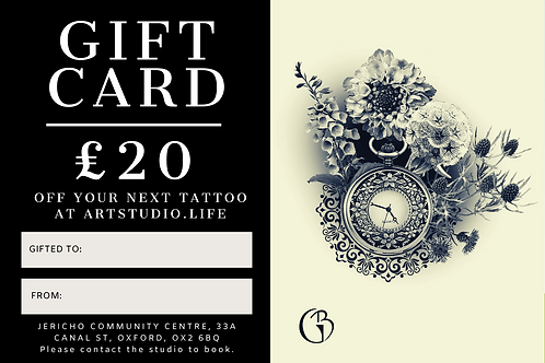 £20 Tattoo Gift Card