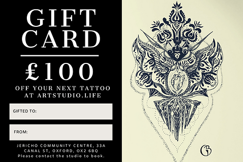 £100 Tattoo Gift Card