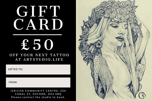 £50 Tattoo Gift Card