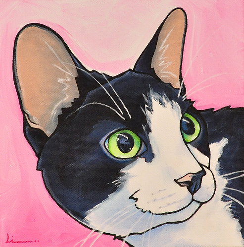 Happy Cat original painting