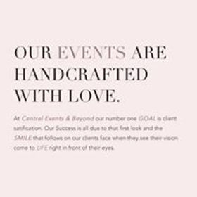 Central Events & Beyond Wedding Coordinations Lebanon PA