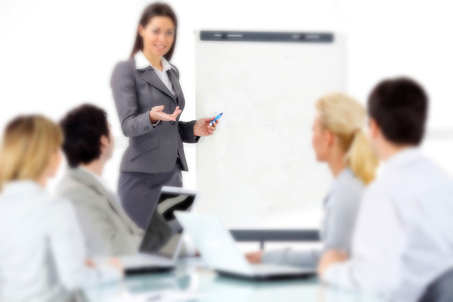 businss woman training