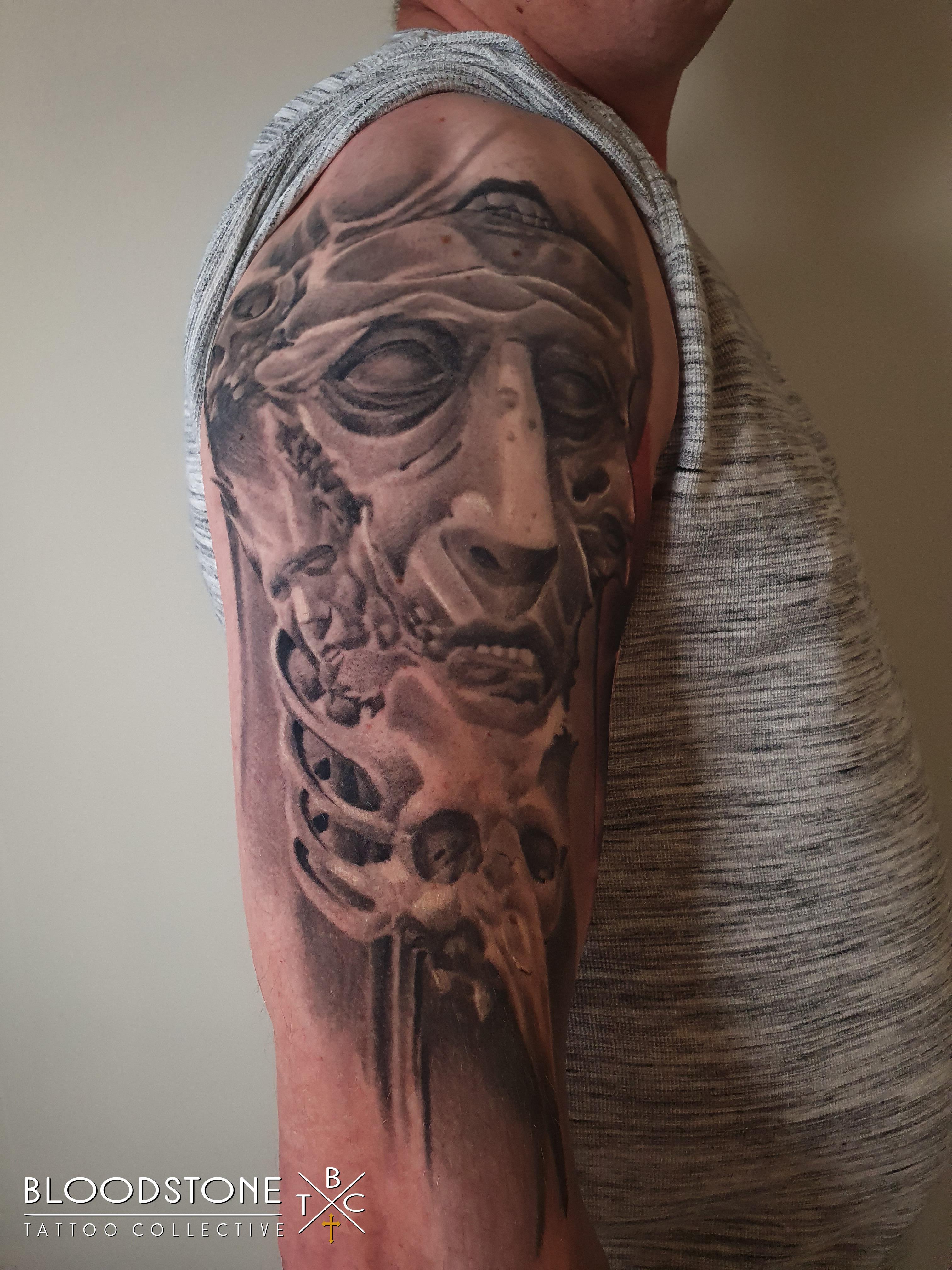 Healed creepy faces and skulls