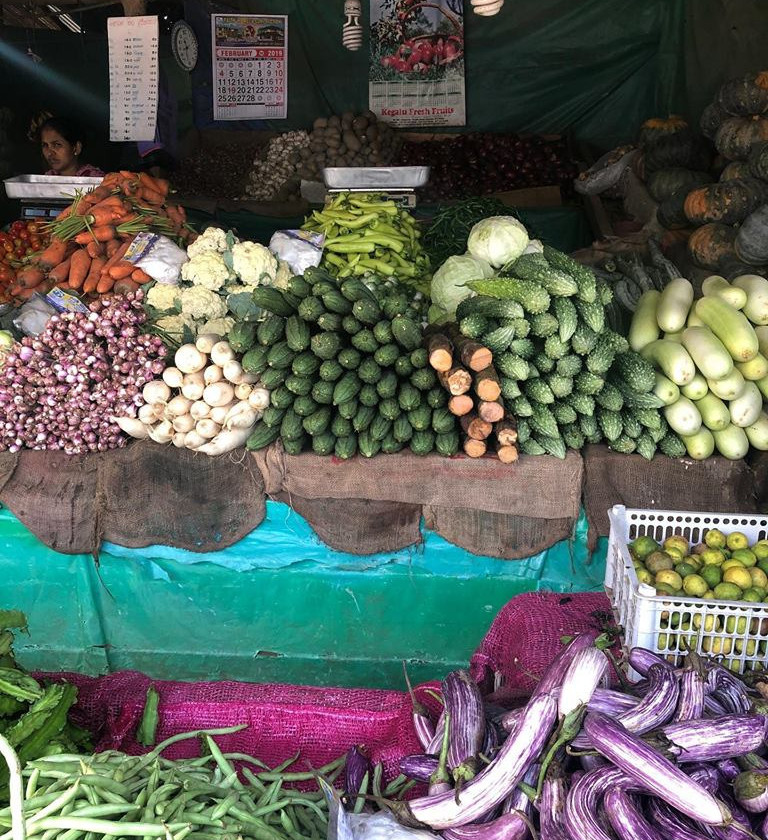 Produce at the local market in Dambulla is always organic and colorful