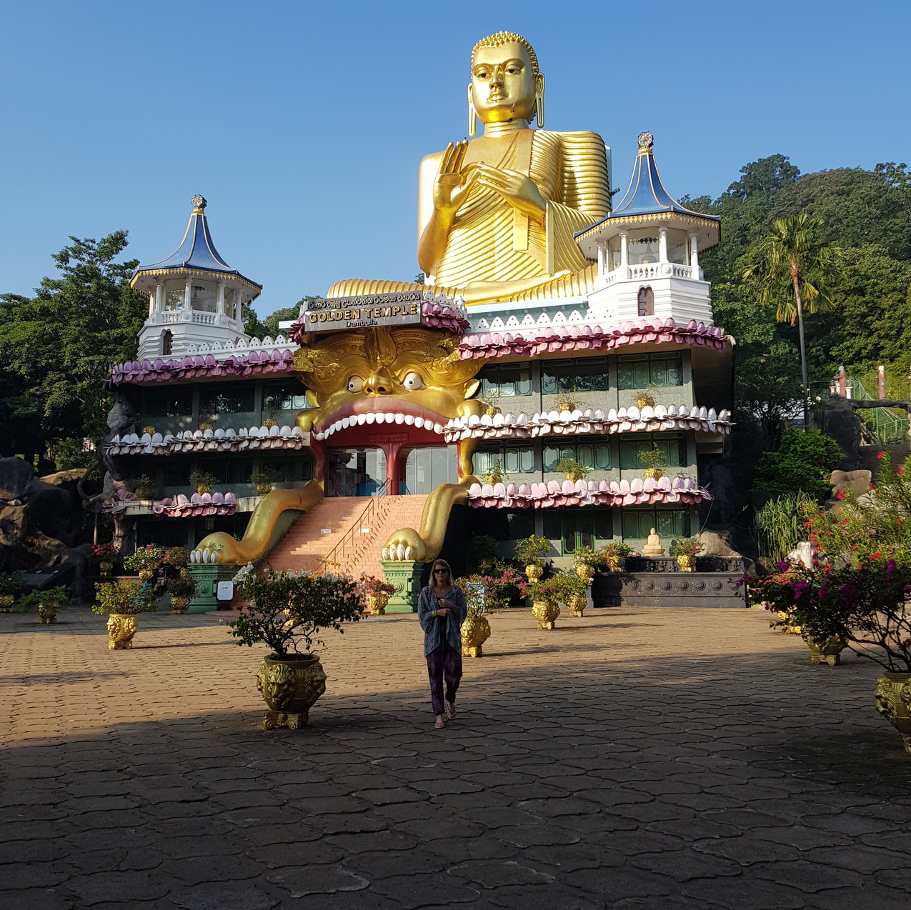 At the foot of Dambulla Cave Temple