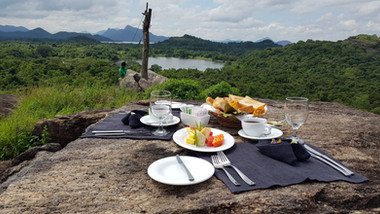 Choose from Breakfast, Tea, or Dinner on the Rock