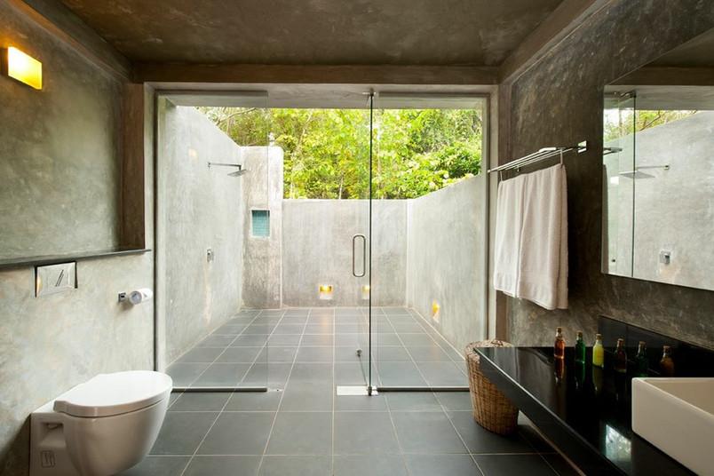 Bathroom with outdoor shower