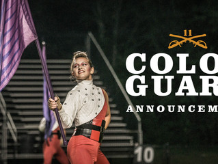 Announcing our 2018 Color Guard Staff