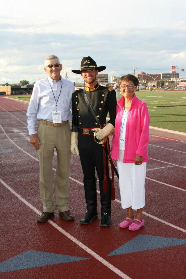 Mick McMurry, Drum Major Justin Anderson, Susie McMurry
