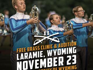 Announcing Free Brass Clinic   |   November 23rd  |  Laramie, Wyoming