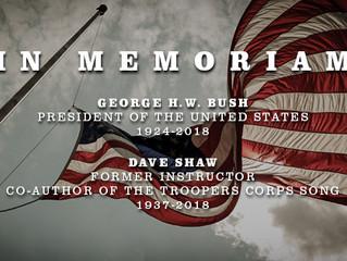 In Memoriam: Dave Shaw & President Bush Remembered