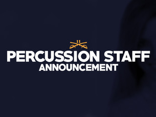 Announcing 2021 Percussion Staff