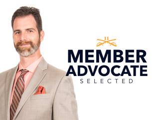Evan Dixon selected as Member Advocate