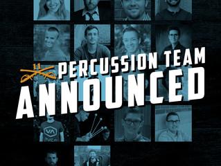 2019 Percussion Staff Announced!