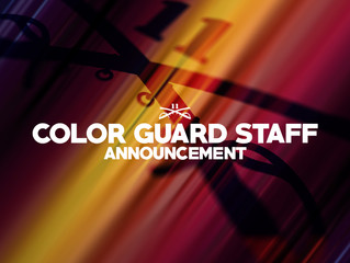 Announcing 2021 Color Guard staff