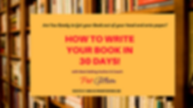 HOW TO WRITE YOUR BOOK IN 30 DAYS! vimeo