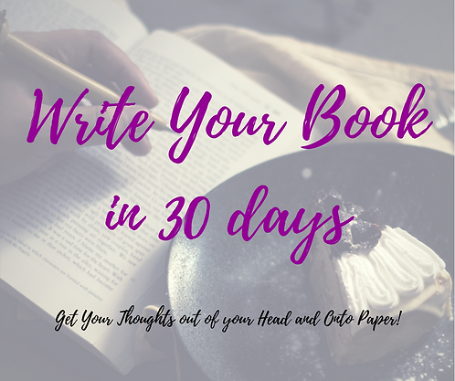Write Your Book in 30 days Program