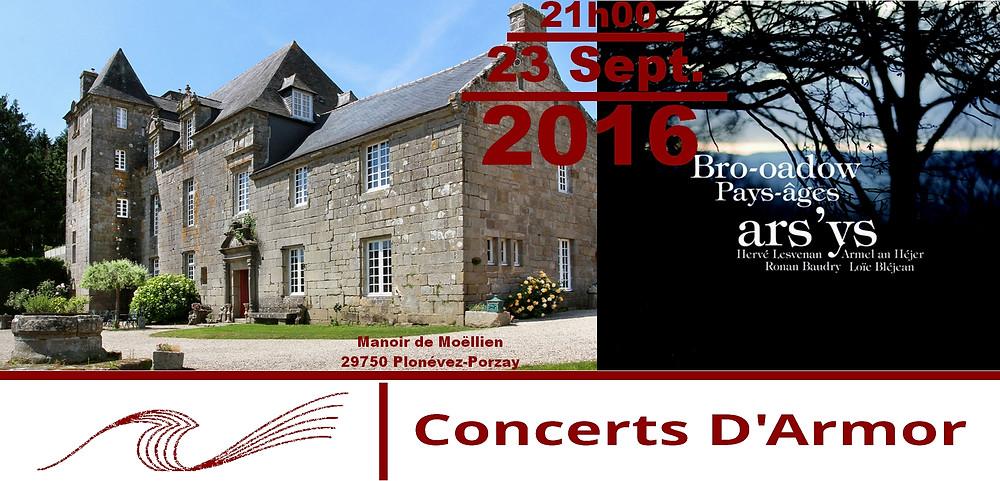 ars ys en concert au manoir de Moëllien le 23 septembre 2016