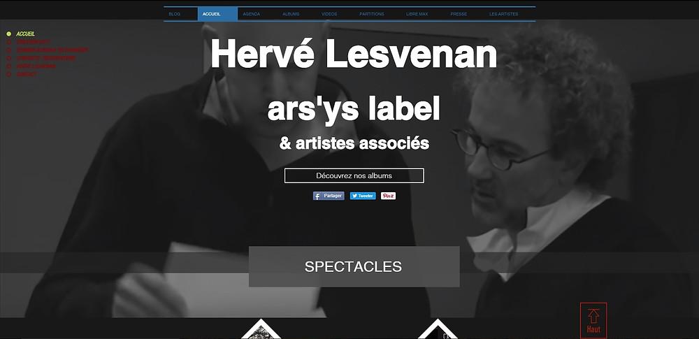 Nouveau site internet pour Hervé Lesvenan et ars'ys